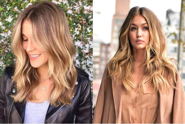Hollywood celebrities hair color shades of Surfer Balayage