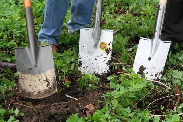 Spade gardening tool