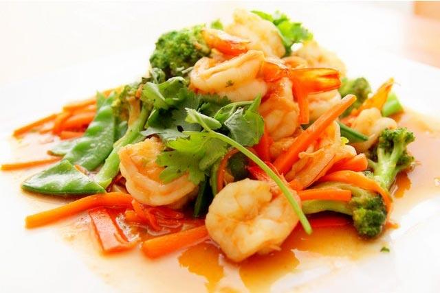 Healthy Diet includes shrimp