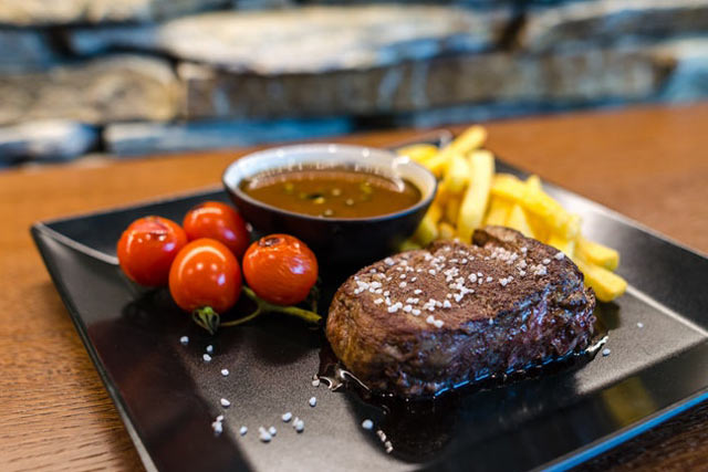 Healthy diet includes steak